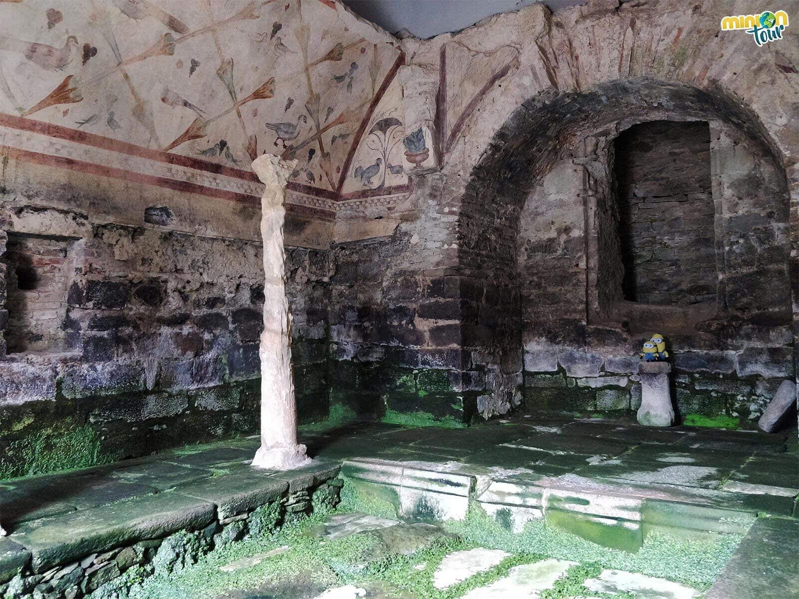 Pensando si las pinturas murales de Santa Eulalia de Bóveda son de un templo romano