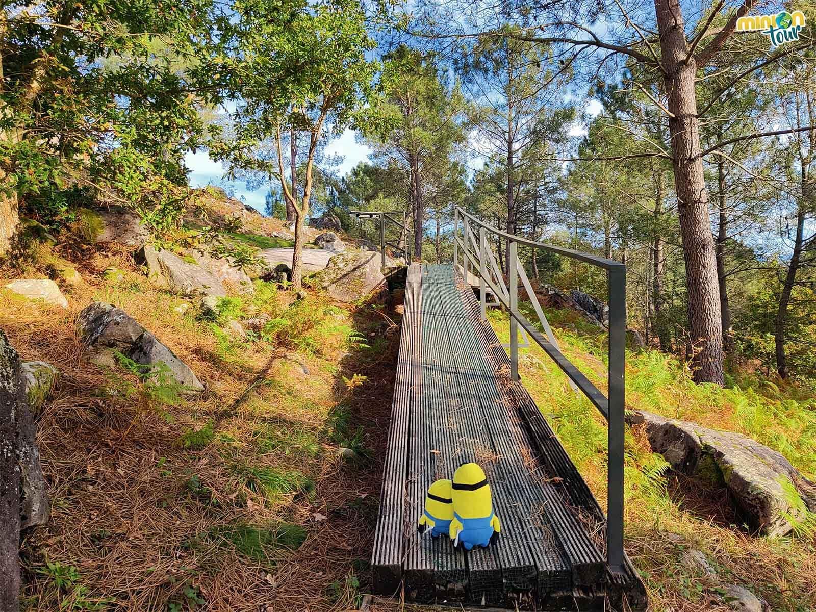 Las pasarelas del parque arqueológico son de lo más chulis