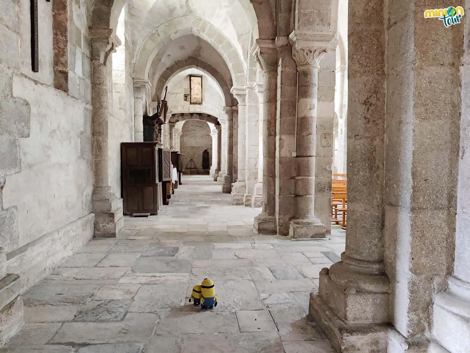 Minions en la iglesia del Monasterio cisterciense de Santa María de Meira