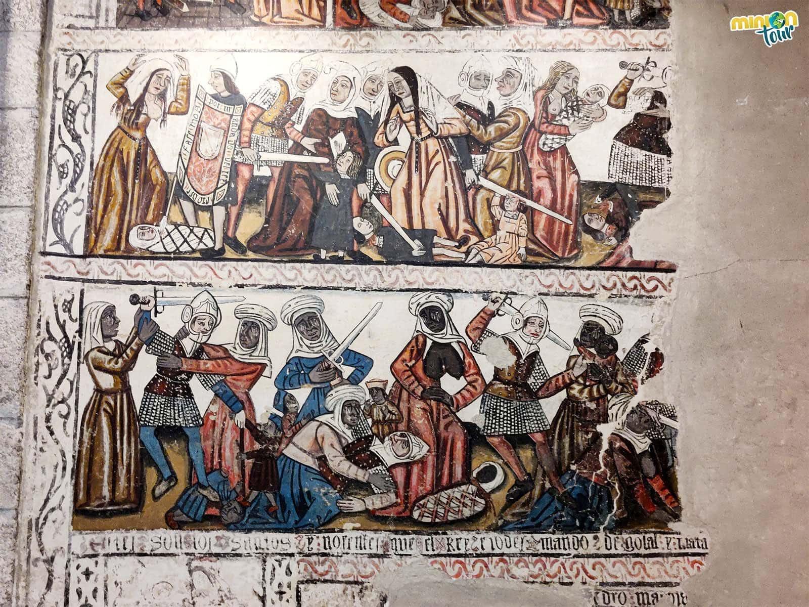 Las pinturas murales de la Catedral de Mondoñedo son una pasada