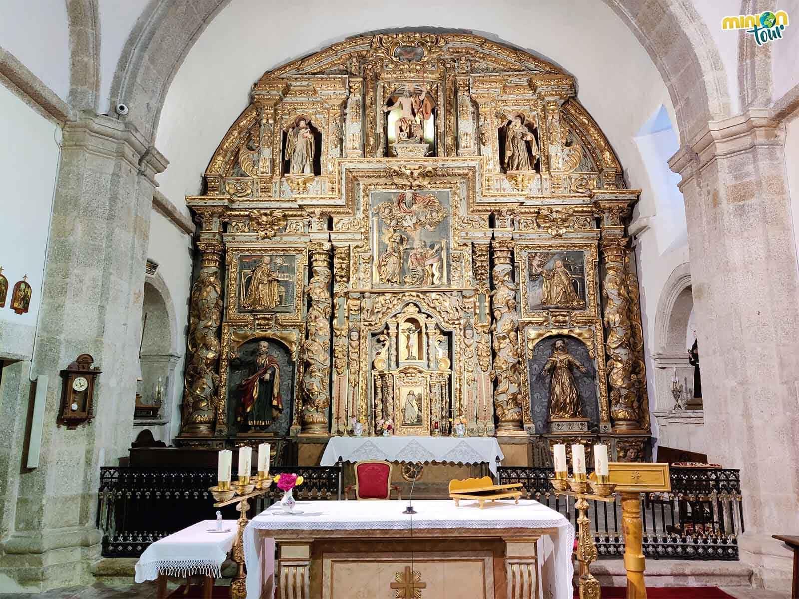 Retablo mayor de la iglesia del Monasterio de la Concepción de Mondoñedo