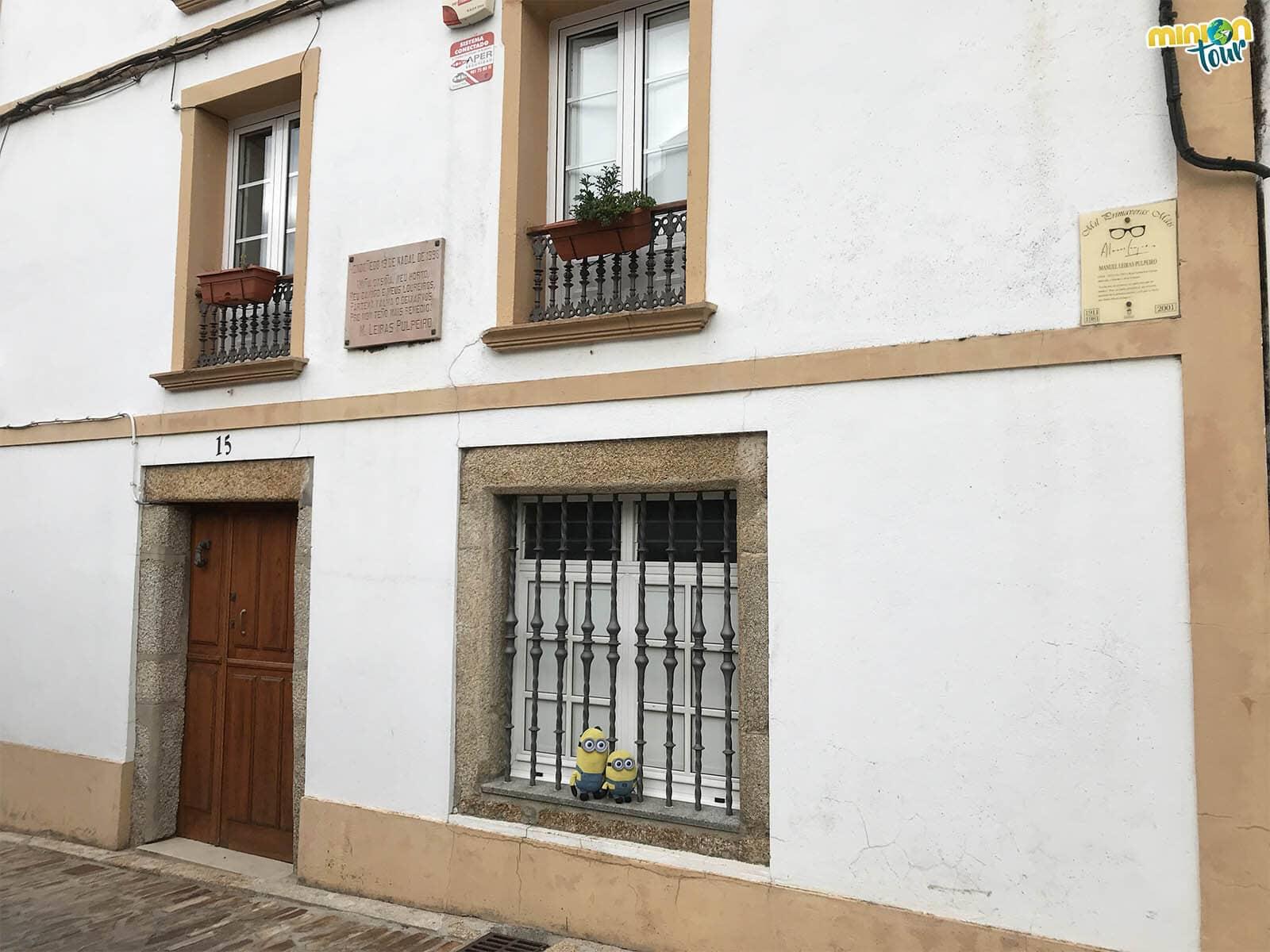 Esta es una de las casas en las que vivió Leiras Pulpeiro