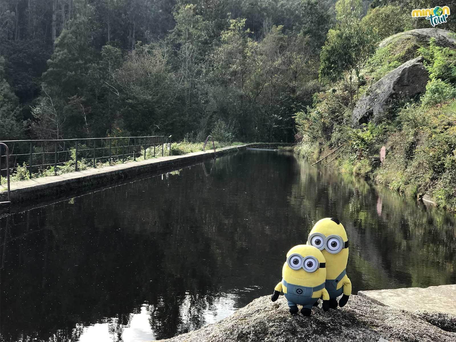 Hemos encontrado una piscina para darnos un bañito