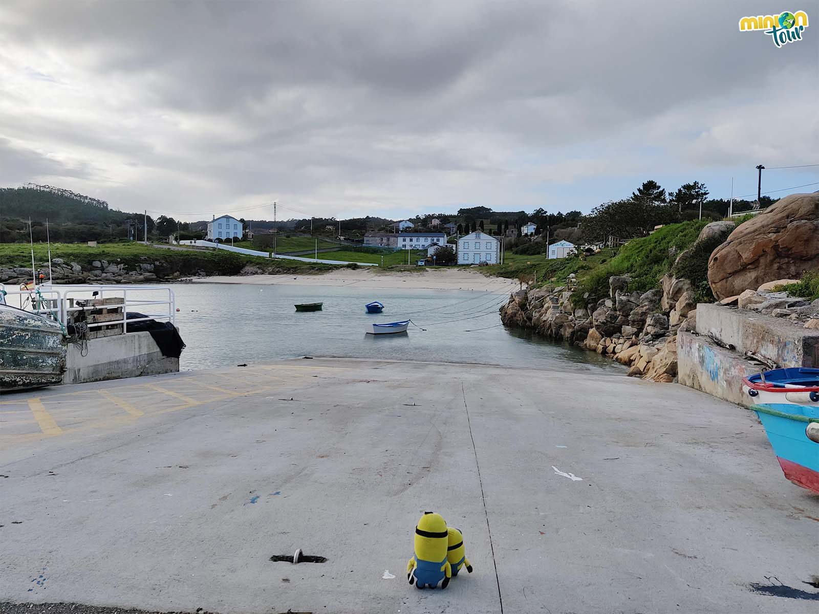 Minions en el Portiño de Morás en la costa de Lugo