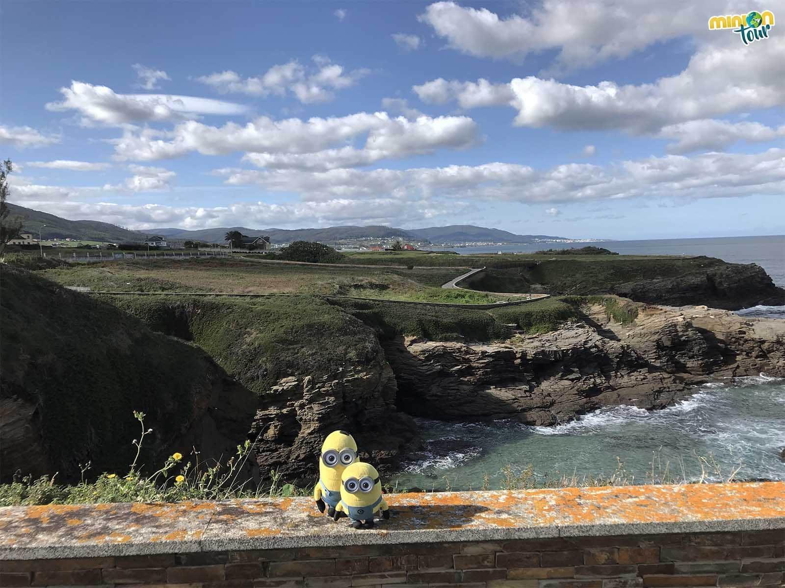 En la costa de Lugo hemos visto un cuerno que se mete en el mar