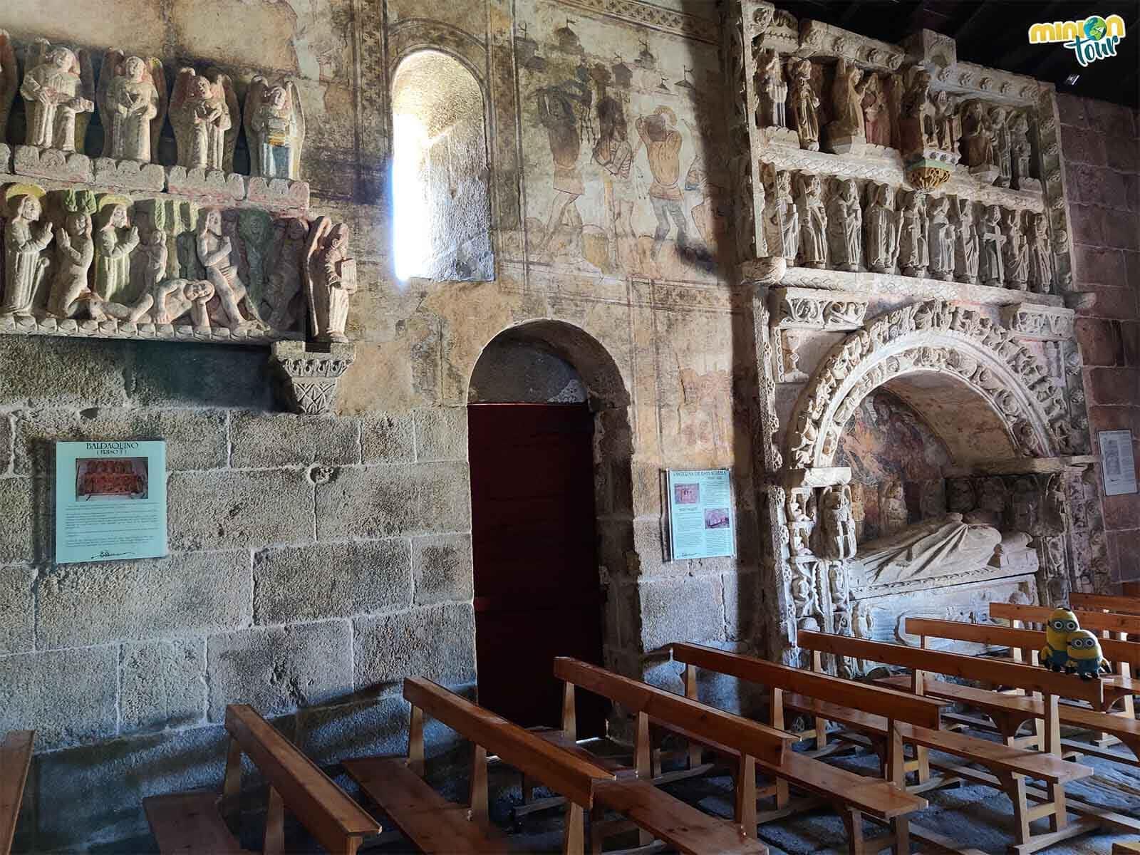El baldaquino de la catedral del rural gallego de Ventosa es impresionante
