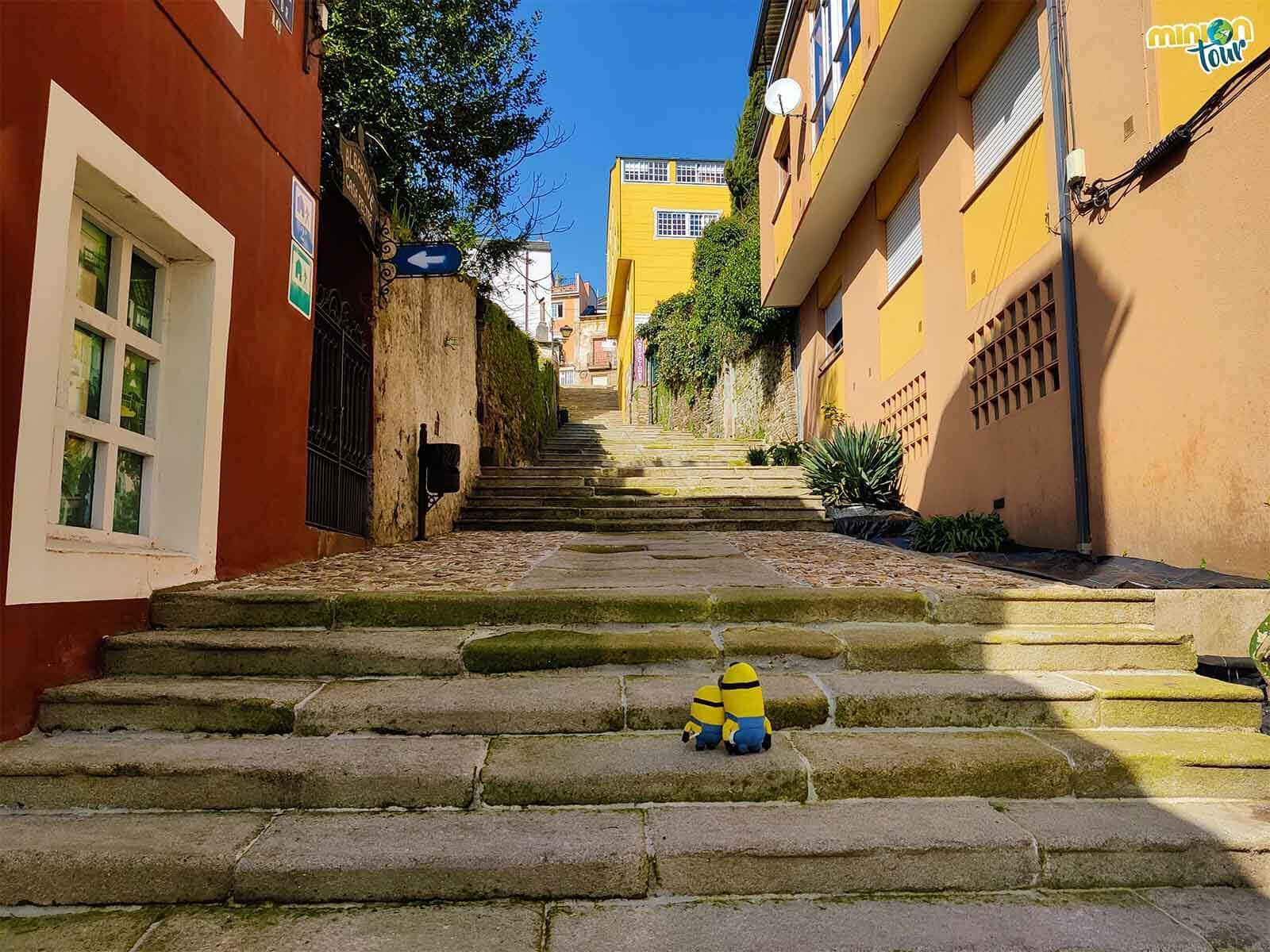 Empezamos nuestra visita a Sarria subiendo la Escalera da Fonte