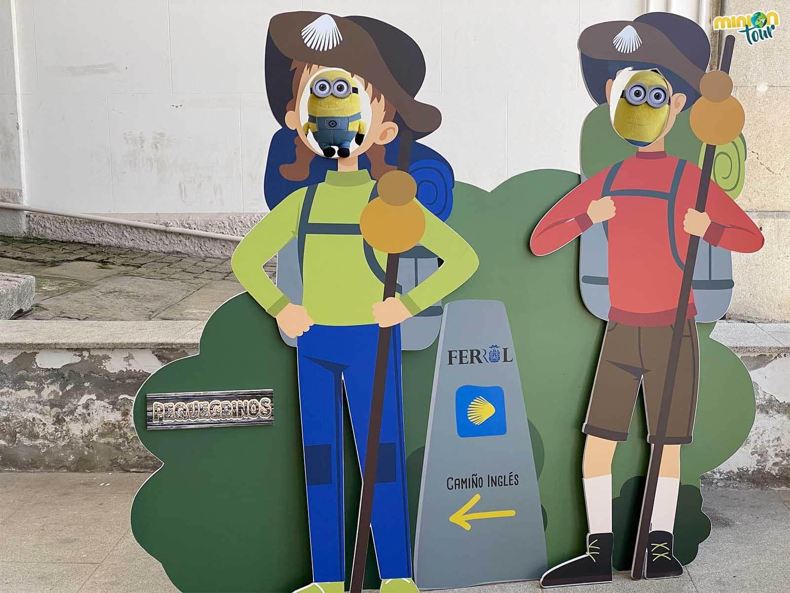 Minions peregrinos en el Ferrol Vello
