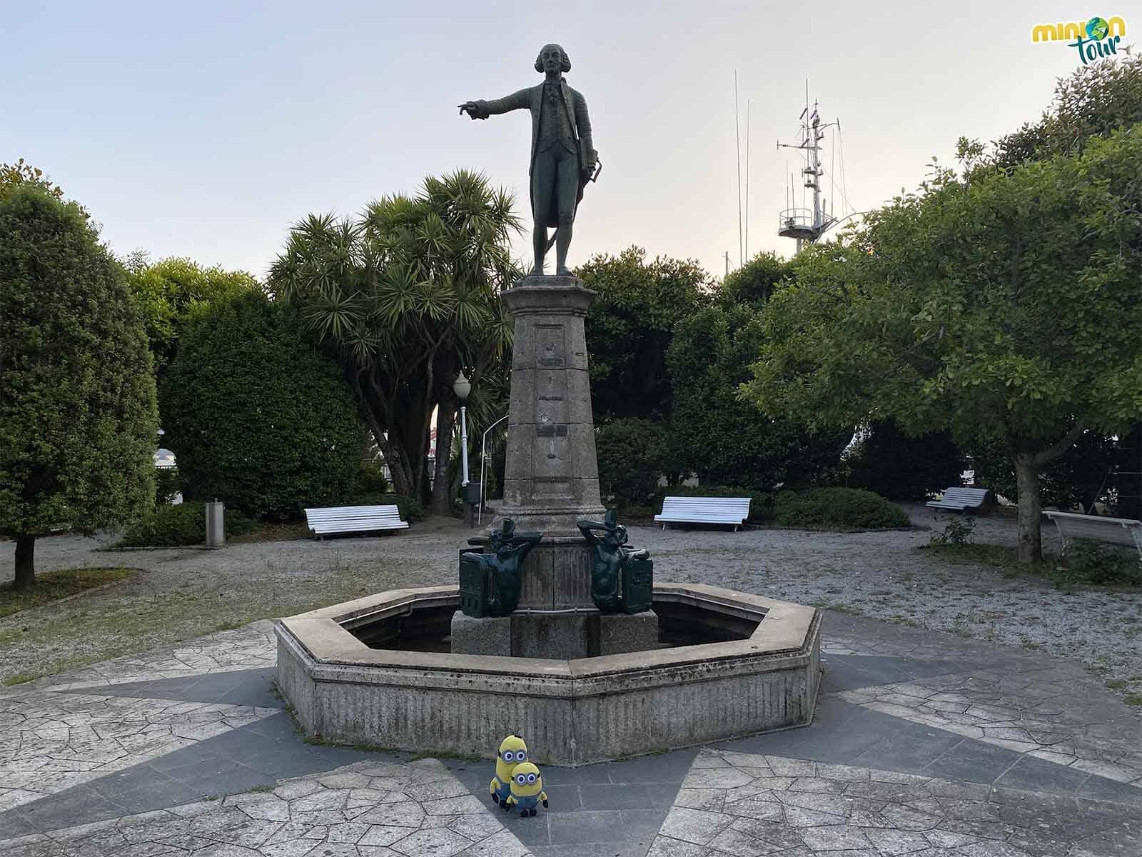 Hemos saludado a otra figura importante de la ruta por el Ferrol de la Ilustración