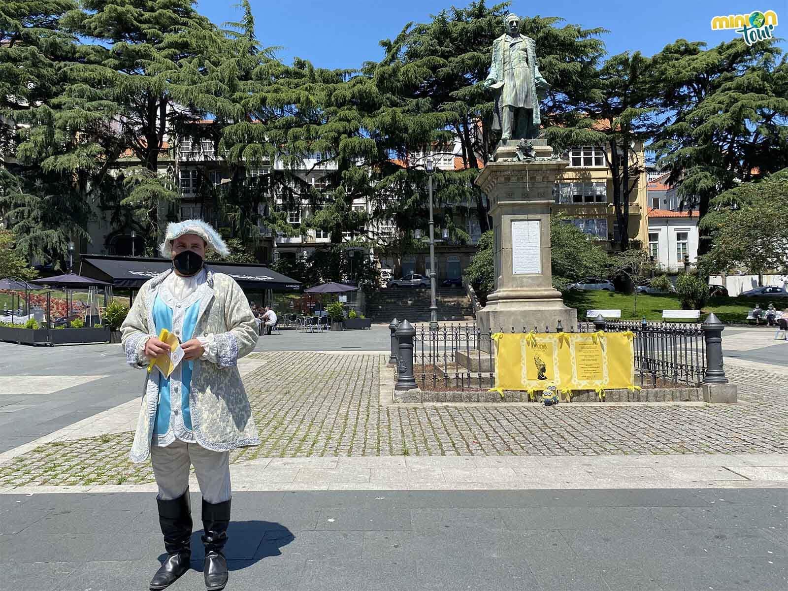 Nos hemos parado a saludar a un señor muy importante de Ferrol
